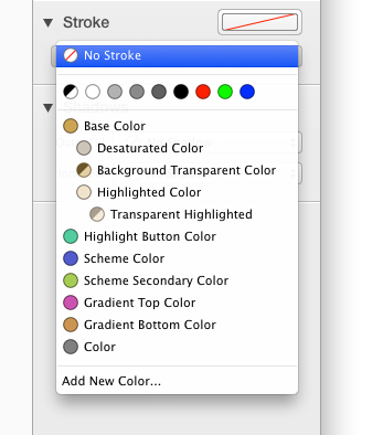 Setting a stroke color with popup button