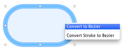 Converting shape to a bezier