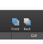 Send to Back / Bring to Front toolbar icons