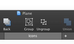 Group and Ungroup icons