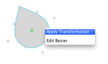 Applying transform to bézier