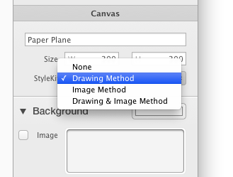 Canvas StyleKit Settings Popup Button