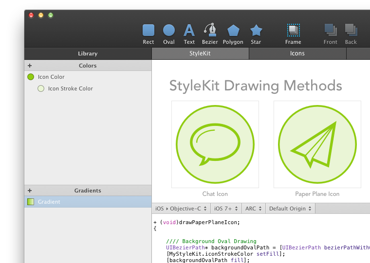 StyleKit drawing methods