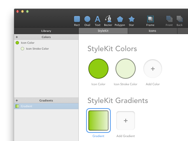 StyleKit colors and gradients