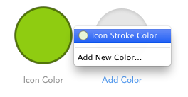 Adding a color to StyleKit Catalog using the Add Color placeholder