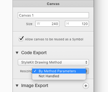 Resizing Popup Button in Canvas Inspector