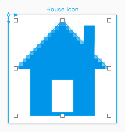 Drawing of House Icon in PaintCode