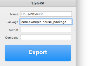 Inspector with StyleKit settings