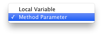 Code generation settings for variable