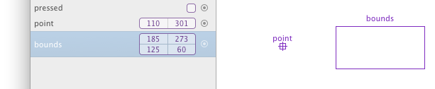 Variables displayed in canvas