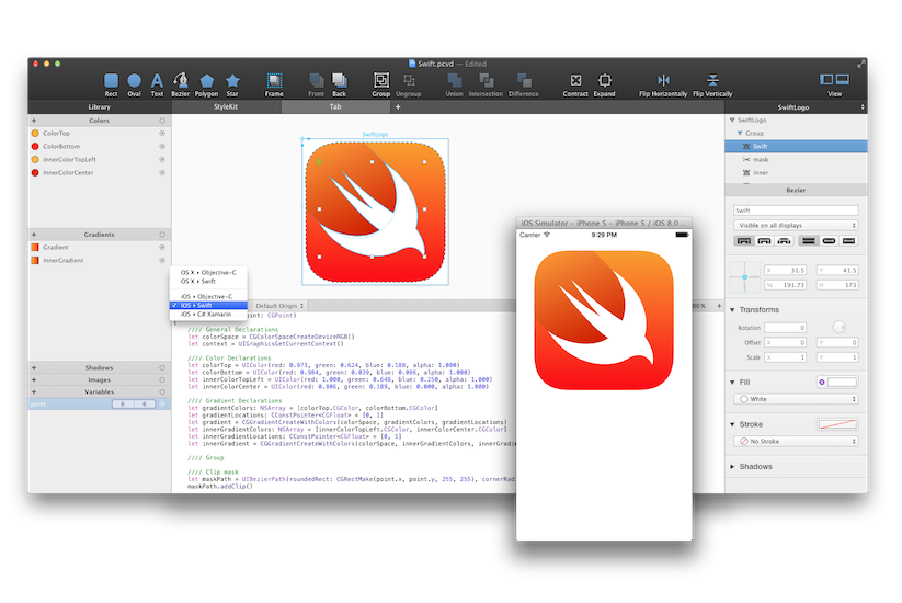 PaintCode with Swift!