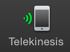 Toolbar icon when Telekinesis is connected