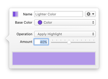 Derived Color Editor