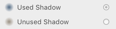 Shadow Usage Dots