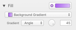 Inspector for Gradient Fill